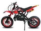 "Dirtbike Apollo 49cc 10"" Crossbike Pocket Minicross Motorcross Weiß"