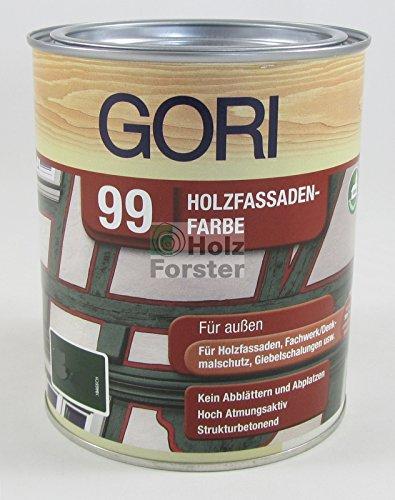 GORI 99 Holz- und Fassadenfarbe 7086 Schokoladenbraun, 0,75 Liter