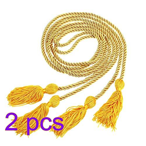 BESTOYARD Graduation Honor Cords einfarbig geflochtene Honor Graduation Cords liefert Party Dekoration (Gold) -