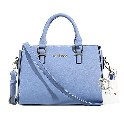 Sacchetti di borsa della traversa di Yoome per il favore del partito Borse della maniglia superiore Borse grandi eleganti per le donne - azzurro L.Blue