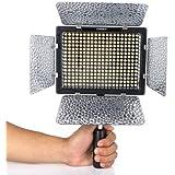 Yongnuo YN 300II Lampe LED appareil photo et vidéo réglable Température de couleur 3200 - 5500K pour DSLR Canon Nikon avec IR retiré.
