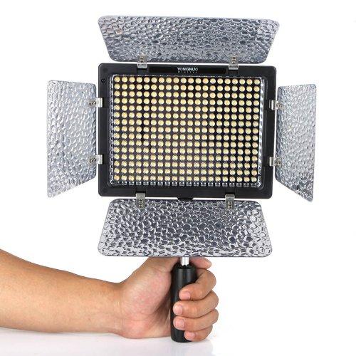 Yongnuo OS03221 YN-300 II Profi Videolicht/Kameralicht mit 300-LED (2280 Lumen) für Videokamera/Camcorder -