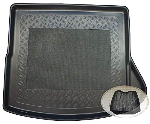 ZentimeX Z3024102 Antirutsch Kofferraumwanne fahrzeugspezifisch + Klett-Organizer (Laderaumwanne, Kofferraummatte)