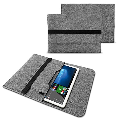 NAUC Sleeve Schutztasche Hülle für Google Pixel C Tablet Notebook Ultrabook Laptop Filz Case in verschiedenen Farben , Farben:Hell Grau