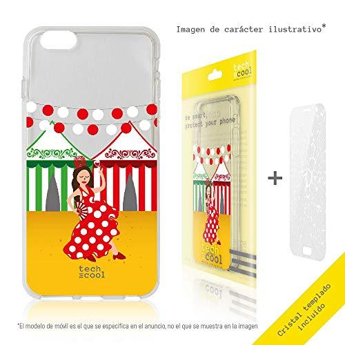 Funnytech Set Transparente Hülle für iPhone X [Flexibles Silikon Hohe Qualität] [Ultra Slim 1,5 mm], High Definition Druck + [Hartglas 0,3 mm, HD, 9H] [Durchsichtige Fenster Eisen] -