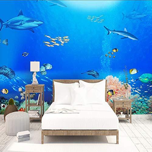 Dalxsh Unterwasserwallpaper Shark Thunfisch Kinderzimmer Wandbilder Foto Hintergrund Wandpapier Für Wohnzimmer Schlafzimmer-280X200Cm