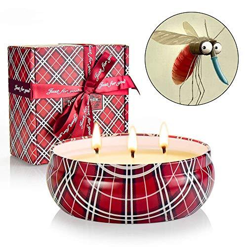 Bougie Parfumée Rose 400g, Cire de Soja Naturelle 30 Heures de Long Burnning Vegan Bougie Coffret Cadeau pour Bath Yoga Aromathérapie Mariage La Saint-Valentin