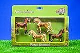 Toyland Kinder Globus Bauernhof Tier Pferd Maßstab Modell 1:32 4er Set