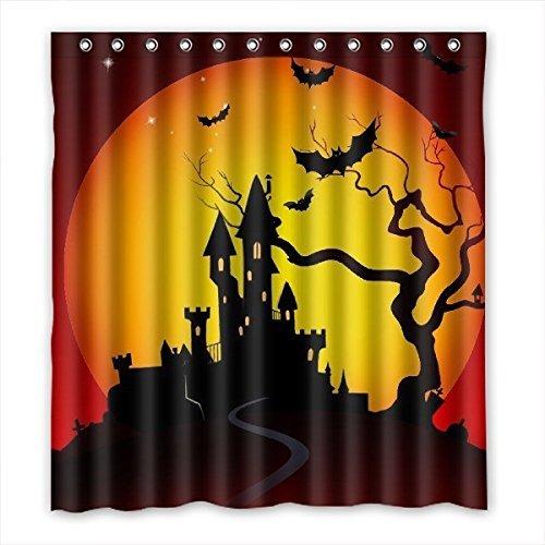 doubee Custom Halloween Wasserdicht Badezimmer Duschvorhang, PEVA, 167cm x 183cm, 167,6x 182,9cm, polyester,  - A, 168 x 183 cm (Halloween-badezimmer Sets)