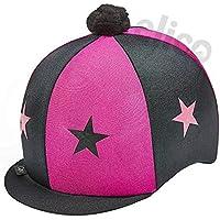 CAPZ - Gorro de equitación con estrellas y pompón, color cerezo/negro