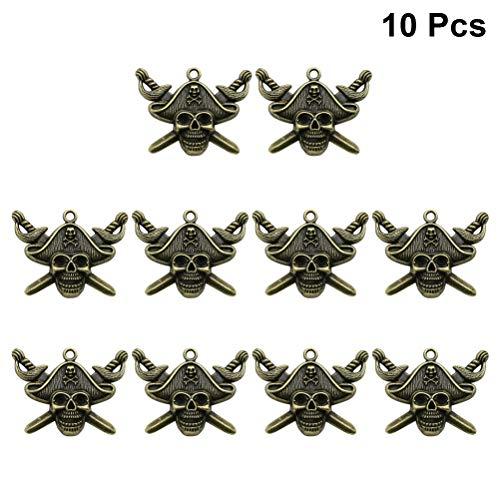 Healifty Legierung Anhänger DIY Piraten Charms Schmuckherstellung Halskette Armband 10 Stücke ()