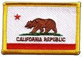 Flaggen Aufnäher USA Kalifornien Fahne Patch + gratis