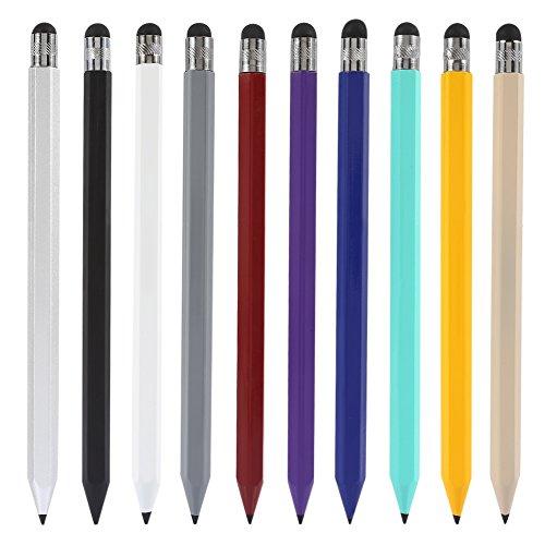 Duoying 10 Stück Stylus Stifte Combo Click Touch Pen Hexagon Bleistift für kapazitive Touchscreen-Gerät/Tablet/iPhone/iPad/Samsung/LG/HTC/Nexus - - Oder Nook Tasche Tablet Nook Farbe