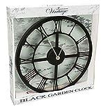 Klassisch 35cm durchmesser Schwarz Römisches Ziffernblatt Uhr