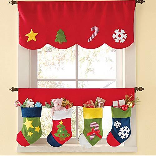 Doppelrollo Vorhang Weihnachtsvorhang Weihnachtsstrumpf Blinds Jalousien Babyzimmer Kinderzimmer Schlafen Cartoon Vorhang Baumwollvorhang Fliegender Vorhang Feiertagsdekoration Weihnachtsdekoration