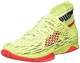 Puma Unisex-Erwachsene Evospeed Netfit Euro 1 Multisport Indoor Schuhe, Gelb (Fizzy Yellow-Red Blast Black), 44 EU
