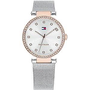 Tommy Hilfiger Reloj Análogo clásico para Mujer de Cuarzo con Correa en Acero Inoxidable 1781863