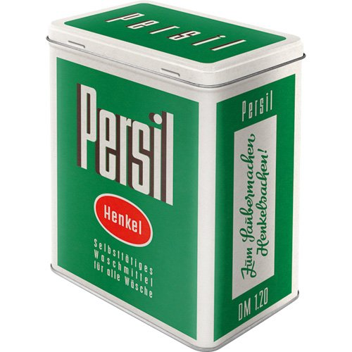 Nostalgic-Art 30138 Persil - Verpackung 50er, Vorratsdose L (Metall-waschmittel-behälter)