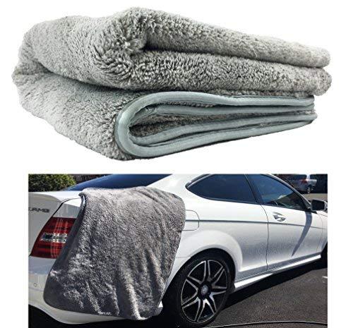 XL - Grande serviette en microfibres - 91,4 x 63,5 cm - Serviette de séchage pour voiture 1000 g/m² - Super absorbante