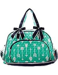 9edf444626 N. Gil Quilted Weekender Duffel Bag (Arrow Mint Green) By Ngil