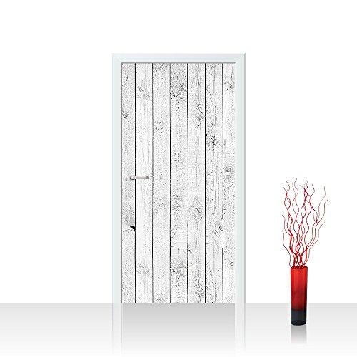 Tür Fototapete Türtapete 100×211 cm Türfolie selbstklebend o. Vlies PREMIUM PLUS – Tür Türposter Türpanel Foto Tapete Bild – Holzoptik Holzwand, HolzPanel, weißes Holz – no. 085