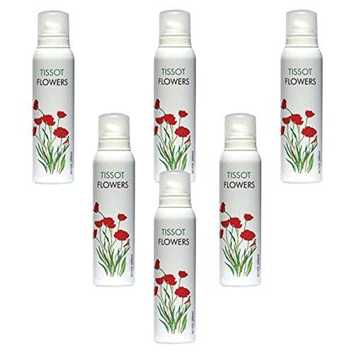 6pcs-x-tissot-flowers-by-milton-lloyd-ladies-women-body-spray-deodorant-150ml