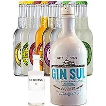 Gin Sul Handcrafted German Dry 0,5 Liter + Botanist 5 cl + 9 Thomas Henry 0,2 Liter alle Sorten