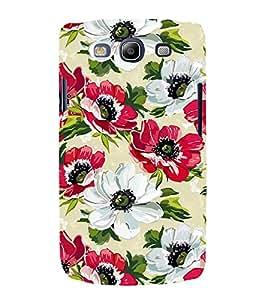 PrintVisa Red White Flower 3D Hard Polycarbonate Designer Back Case Cover for Samsung Galaxy S3 i9300 :: Samsung I9305 Galaxy S III :: Samsung Galaxy S III LTE