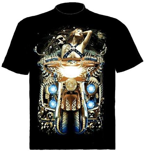 Biker T-Shirt Aufgemotztes Bike Schwarz