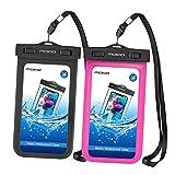 Die besten LG T-Mobile Att Handys - MoKo Wasserdichte Handyhülle - 2 Stücke Wasserdicht Staubdicht Bewertungen