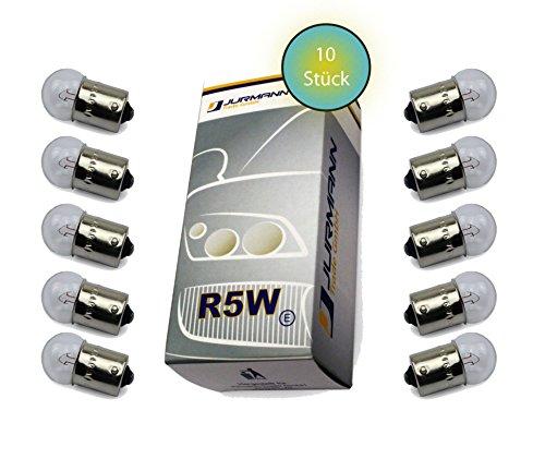 Jurmann Trade GmbH® 10x Stück R5W 12V 21W BA15S Blinkleuchte Halogen Lampen Autolampen KFZ-Beleuchtung Birne (Can Test Box)