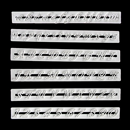 Zahlen und Buchstaben Ausstecher Tortendeko Formen Fondant Ausstechform Kuchendeko Auswerfer