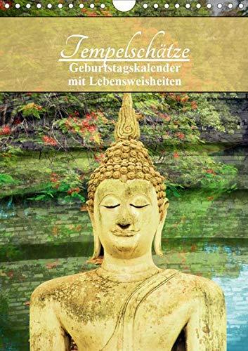 Tempelschätze (Wandkalender 2020 DIN A4 hoch): Geburtstagskalender mit buddh. Weisheiten (Geburtstagskalender, 14 Seiten ) (CALVENDO Gesundheit)