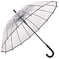 Transparent Umbrella,Transparent Stick Umbrellas,Long handle umbrella,Auto Open,Fashion Dome Shape,Strong wind resistance,Suitable for 2 people use,Transparent and Black border
