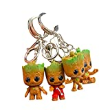 Baby Groot Llavero (Conjunto de 4) - Maravillosa Figura de acción de...