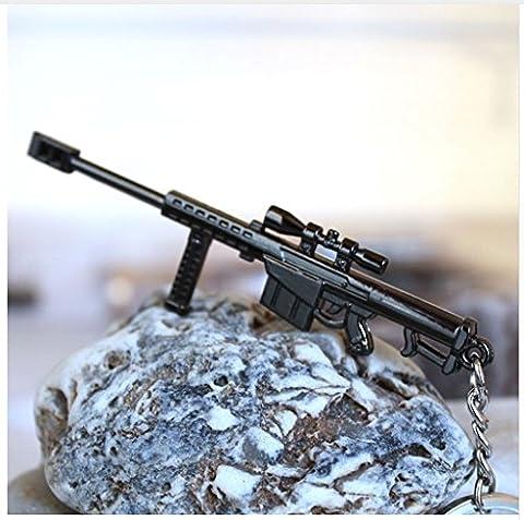 M82 Barret Schlüsselanhänger Scharfschützengewehr US Army aus Shooter Games massiv Metall grau 9cm