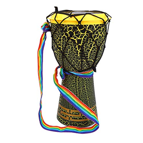FLAMEER Mahagoni Djembe Bongo Afrikanische Hand Trommel Hand Schlagzeug Musikinstrument Spielzeug - Grün