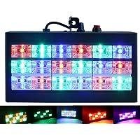 luces de escenario, Latta Alvor Luz de Estroboscopio para Discoteca Party Luz 18 LED DJ Luces Auto & Control de Sonido RGB/blanco (RGB)