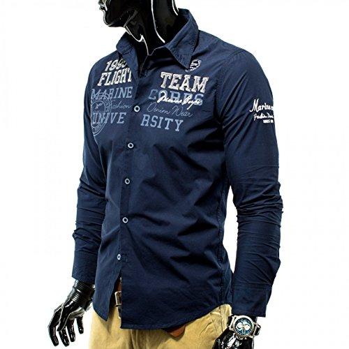Shirt manica lunga da uomo MC Volo Squadra ID1157 (vari colori) Dunkelblau