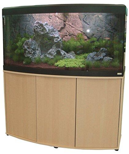 Aquariumkombination Fluval Vicenza 260 mit LED Beleuchtung, Heizer, Filter und Unterschrank Ahorn Eco