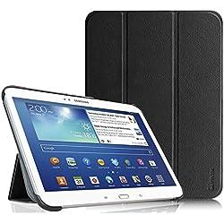 Fintie Housse pour Tablette Samsung Galaxy Tab 3 Tablette 10.1 Pouces - Ultra-Mince et Léger PU cuir Etui Cover Case avec Support et la Fonction Sommeil/Réveil Automatique, Noir