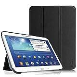 Fintie Samsung Galaxy Tab 3 10.1 Hülle Case - Ultra Slim Lightweight superleicht Ständer Smart Shell Cover Schutzhülle Tasche Etui mit Auto Sleep Wake up für Samsung Galaxy Tab 3 (10,1 Zoll) P5200 / P5210, Schwarz
