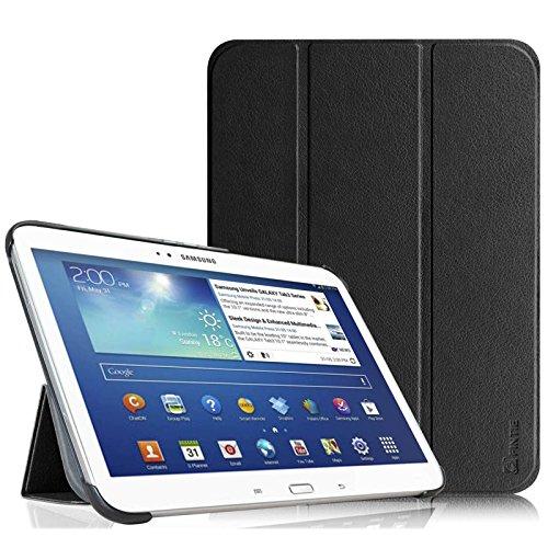 Fintie Samsung Galaxy Tab 3 10.1 Etui Housse Case - PU cuir Etui Smart Cover avec Support Ultra-Mince et Léger et la Fonction Sommeil/Réveil Automatique pour Tablette Samsung Galaxy Tab 3 Tablette 10.1 Pouces, Noir