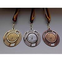 Medaille Metall 50mm incl Emblem gold- Pokale & Preise silver und bronzefarben mit Band