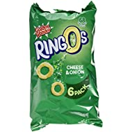 Golden Wonder Cheese and Onion Ringos, 6 x 14g