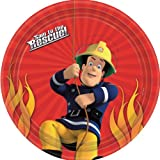 Fireman Sam Theme 23cms Paper Plate - Pack of 8