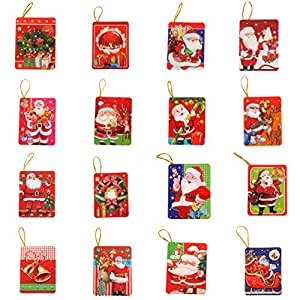 Lot de 128pcs 16 motifs cartes de v ux d coration for Decoration de noel amazon