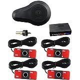 CAR ROVER® Sensor Aparcamiento Kit 4 13mm Sensor Marcha Atras con Zumbador Bibi Alarma de Sonido (Negro)