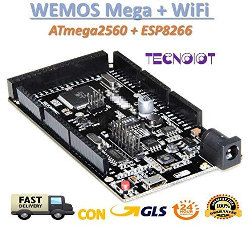 WeMOS Mega + WiFi R3 ATmega2560 + ESP8266 USB-TTL for NodeMCU Arduino Mega | WEMOS Mega + WiFi R3 ATmega2560 + ESP8266 (32 MB Speicher), USB-TTL CH340G. Mega Kompatibel, NodeMCU, WeMos ESP8266 (Arduino-speicher)