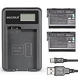 Neewer® (2-Pack) 7,0 V 1900mAh EN-EL15 Ersatz-Akku + USB-Ladegerät für Nikon 1 V1 D600 D610 D7000 D7100 D750 D800 D800S D810 D800E MB-D11 MB-D12